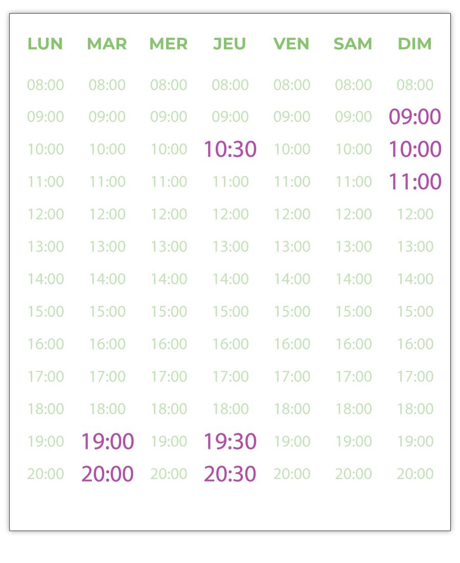 emisante.be reservations en ligne AquaBike calendrier_