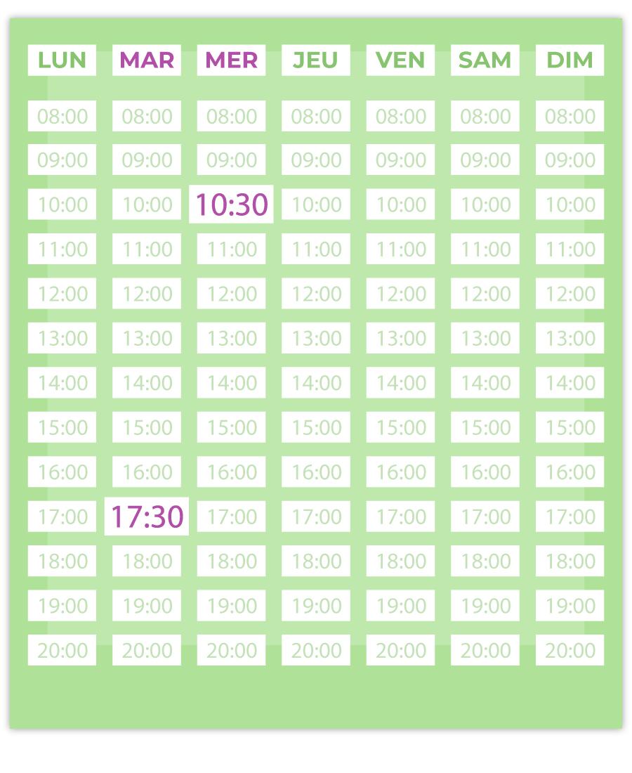 emisante.be reservations en ligne AquaGymCardio calendrier